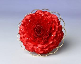 rosamelie, red wedding flowers