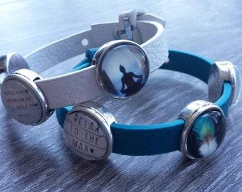Bracelet with 3 sliding beads