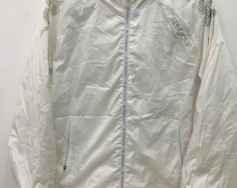 Vintage 90's Kappa White Classic Design Skate Sweat Shirt Sweater Varsity Jacket Size XL #C4