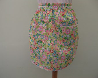 Little girls floral apron