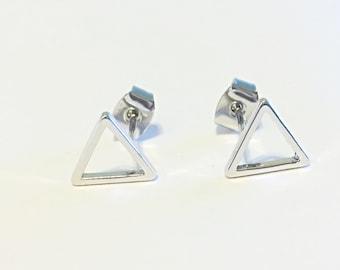 Minimalist Triangle Geometric Earrings
