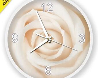 FloraI Wall Clock, modern rose