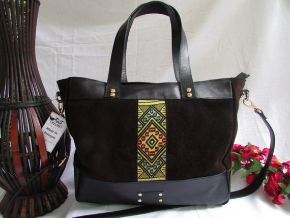 Brawn suede tote, women leather tote, dark brown women tote, large women tote, large leather tote, women shoulder bag, women tote bag, suede
