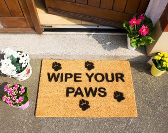 Wipe your paws doormat - 60x40cm - Gift for Dog Lovers