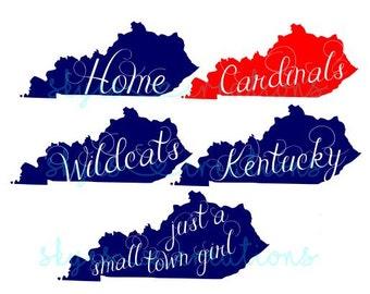 Kentucky sayings, teams, etc SVG file