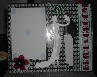Bride and Groom wedding frame