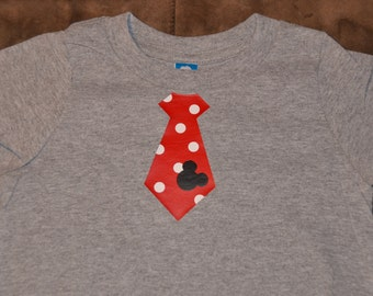 Mickey Mouse tie shirt