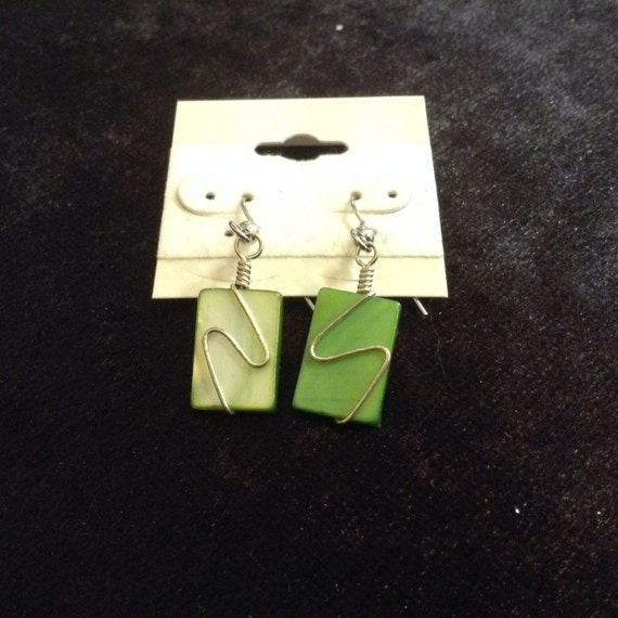 Bright Green Swish Earring