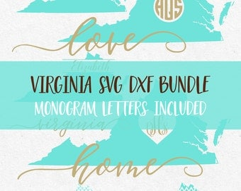 Virginia State Svg Dxf Bundle svg fonts svg monogram frames svg files for silhouette svg files for cricut svg files mermaid pattern vinyl