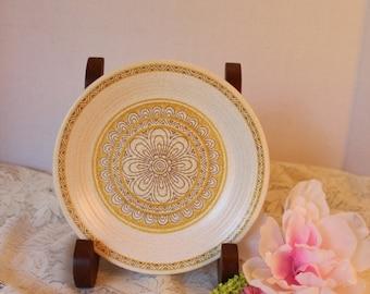 Vintage Franciscan Earthenware Hacienda Gold Bread & Butter Plate, 1960s Pottery, Retro