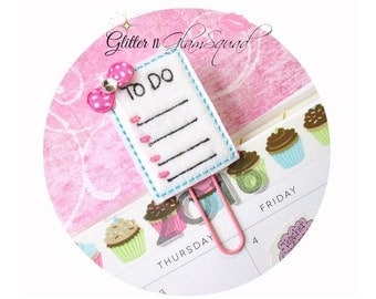 RTS Planner Clips To Do List, Paper clips for Planners, Planner accessories, Felt Paperclips for Planners, Ready to ship, GlitterNGlamSquad