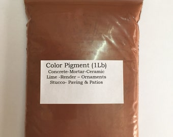 Red ocher deep pigment (1 lb) for wood,metal,plaster,cement,ceramic,grout,tile,brick,wall paint,render,mortar e.t.c