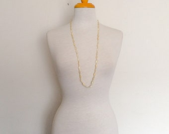 1980s Long Beaded Necklace Vintage