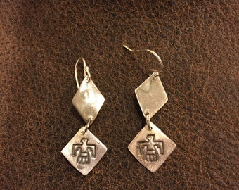 Native American sacred eagle earrings, courage strength and wisdom!!