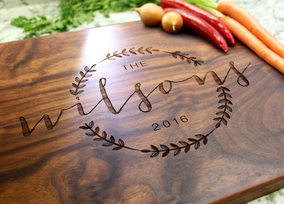 Personalized Cutting Board Engraved By Weddinggiftboutique