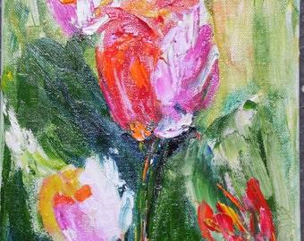 Mini oil painting 20x20cm / 7, 8 x 7, 8 inch
