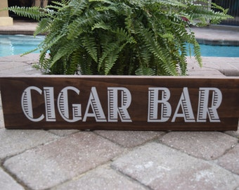 Wooden Cigar Bar Sign for your wedding