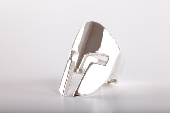 Ring Spartan Helm - (made in ITALY, Sterling Silver 925)