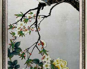 The flower and bird painting brushwork.