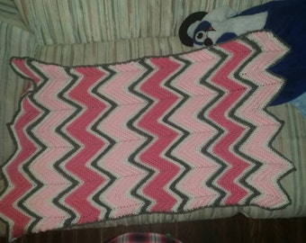 Chevron baby blanket custom colors welcome