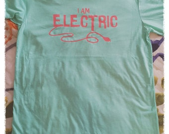 I Am Electric Tee (Back Left Outlet Placement)