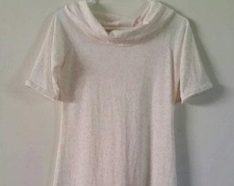 Women's Flowy Light Floral Summer Tunic, Size Medium, Cowl Neck