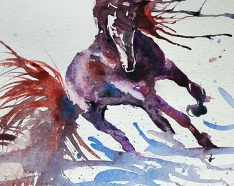 Lovely horse - a watercolour painting by Jeanne