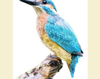 Kingfisher, Kingfisher Wall Art, Kingfisher Watercolor, Kingfisher Prints