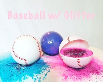 3 Exploding Baseballs Gender Reveal Combo: Blue, Pink, and Practice Ball
