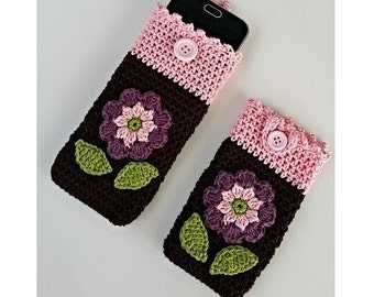 "ebook: Smartphone Cozy ""Flower"" Crochet Pattern"