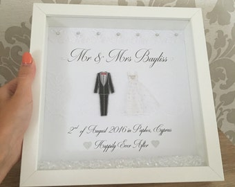 Personalised Wedding Frame, wedding gift wedding frame, wedding present