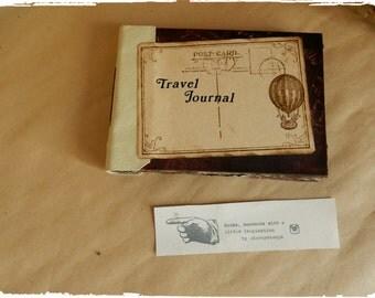 Travel Journal Handmade Notebook, Journal, Sketchbook, Photo Album, Handbound, Vintage