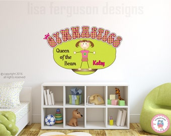 Personalized Gymnastics Fabric Wall Mural for Kids