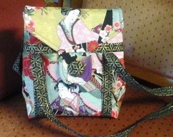 Asian fabric handbag