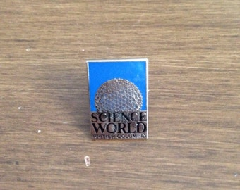 Vintage Enamel Lapel Pin - Science World
