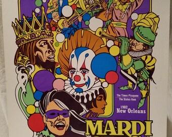 1982 New Orleans Mardi Gras Poster