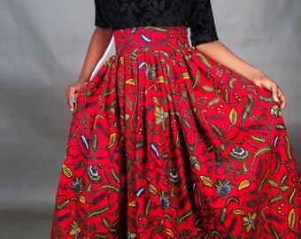 Shola Ankara maxi skirt, Ankara skirt, Ankara fabric, African fabric, African maxi skirt, African skirt, African print skirt, Maxi skirt