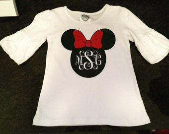 Minnie Mouse monogrammed shirt