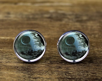Death Star cufflinks, Star Wars cufflinks, Deathstar jewelry