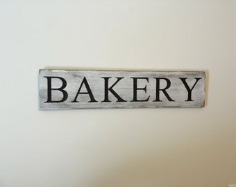 Bakery sign - rustic, farmhouse chic distressed bakery sign