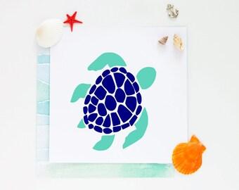 Sea Turtle Vinyl Decal-Beach Decal-Ocean-Vinyl Decal-Car-Decal-Water Bottle-Coffee Mug