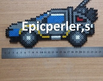 Back to the future delorean perler bead art hama bead art fuse bead art