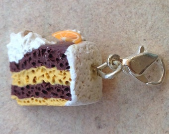 Charm Chocolate-Orange Cake, Pie, Necklace pendant