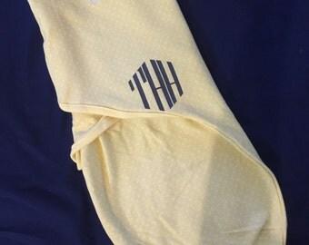 Monogram Swaddle blanket
