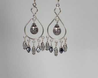 Beaded Chandelier Dangle Earrings
