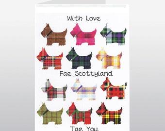 Scottish Greetings Fae Scottyland Card WWGR14