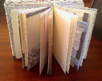 Junk Journal, Hand-bound Journal, Coptic stitched Journal, Blank book