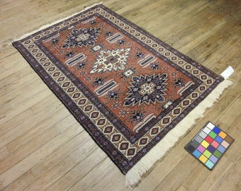 4x5 Persian Ardebil Vintage Hand-Knotted Rug 035561