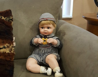 Andrew, Enjoying his cookie~ ! ~ Hamilton Collection Porcelain Doll