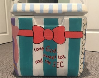 Custom, Hand-Painted Cooler